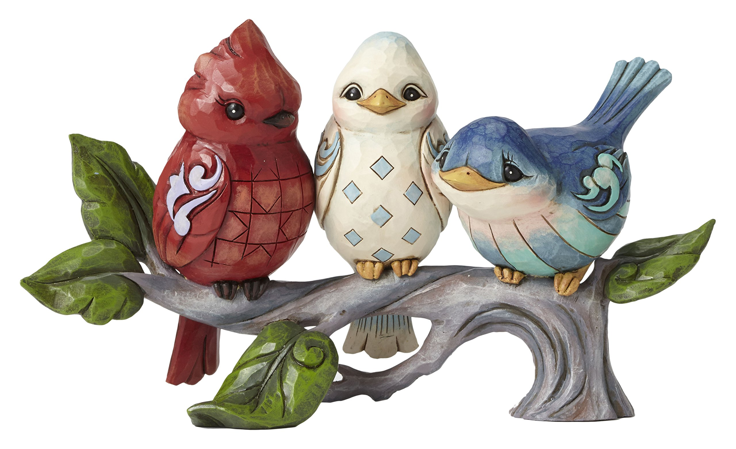"""Jim Shore Heartwood Creek Mini Red, White, and Blue Butterfly Stone Resin Figurine, 4.5"""""""