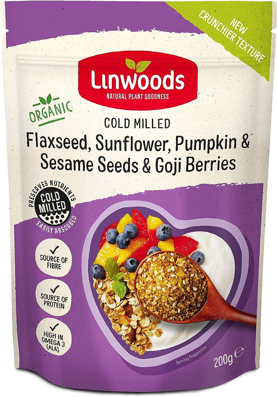 Linwoods Ground Flax Sunflower Pumpkin & Sesame Seeds & Goji Berries -- 8 oz by Linwoods: Amazon.es: Alimentación y bebidas