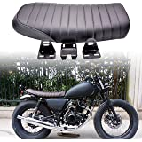 KaTur Universal Motorcycle Flat Vintage Seat Cushion Saddle for Honda CB125S CB550 CL350 450 CB CL Retro Cafe Racer Black