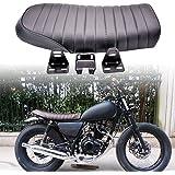 """Sillín KaTur acolchado, universal, plano, de estilo vintage """"Cafe Racer"""", de color negro y para motocicletas Honda"""