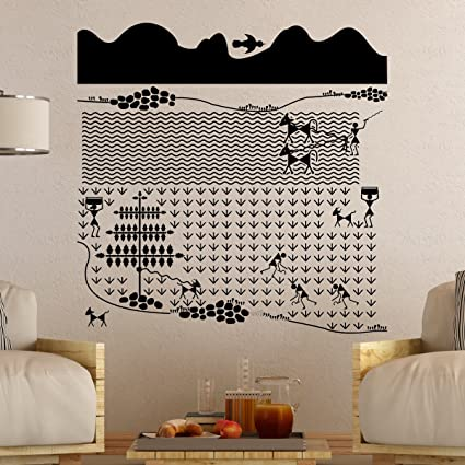34e5f208c Buy Warli Farm Wall Decal Online at Low Prices in India - Amazon.in