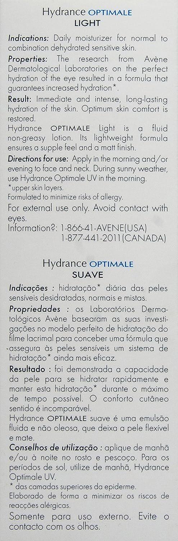 Eau Thermale Avene Hydrance LIGHT Hydrating Emulsion, Daily Face Moisturizer Cream, Non-Comedogenic, 1.3 oz.