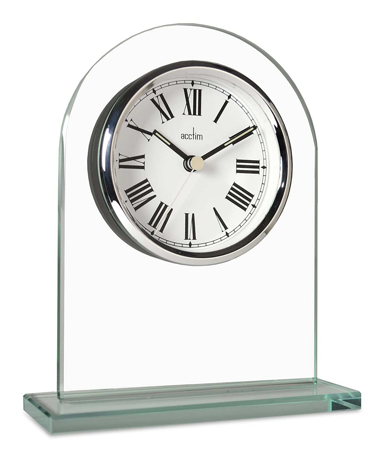 Acctim 36537 Adelaide Mantel Clock, Glass