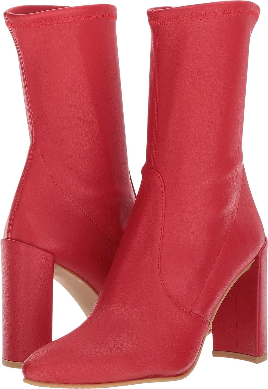 Stuart Weitzman Women's Clinger Ankle Boot B06Y2NSLMF 10 C/D US|Red Plonge