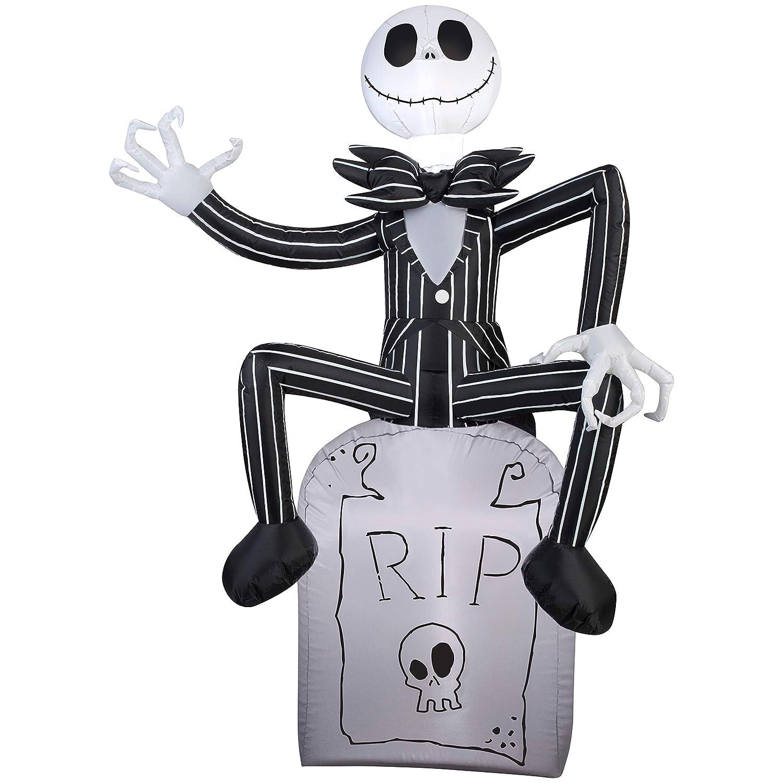 Amazon.com: Gemmy Halloween Inflatable 5 Jack Skellington on Grave ...