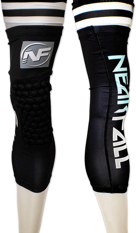 Nearfall Solid Black Knee Pad (YXS) : Sports & Outdoors