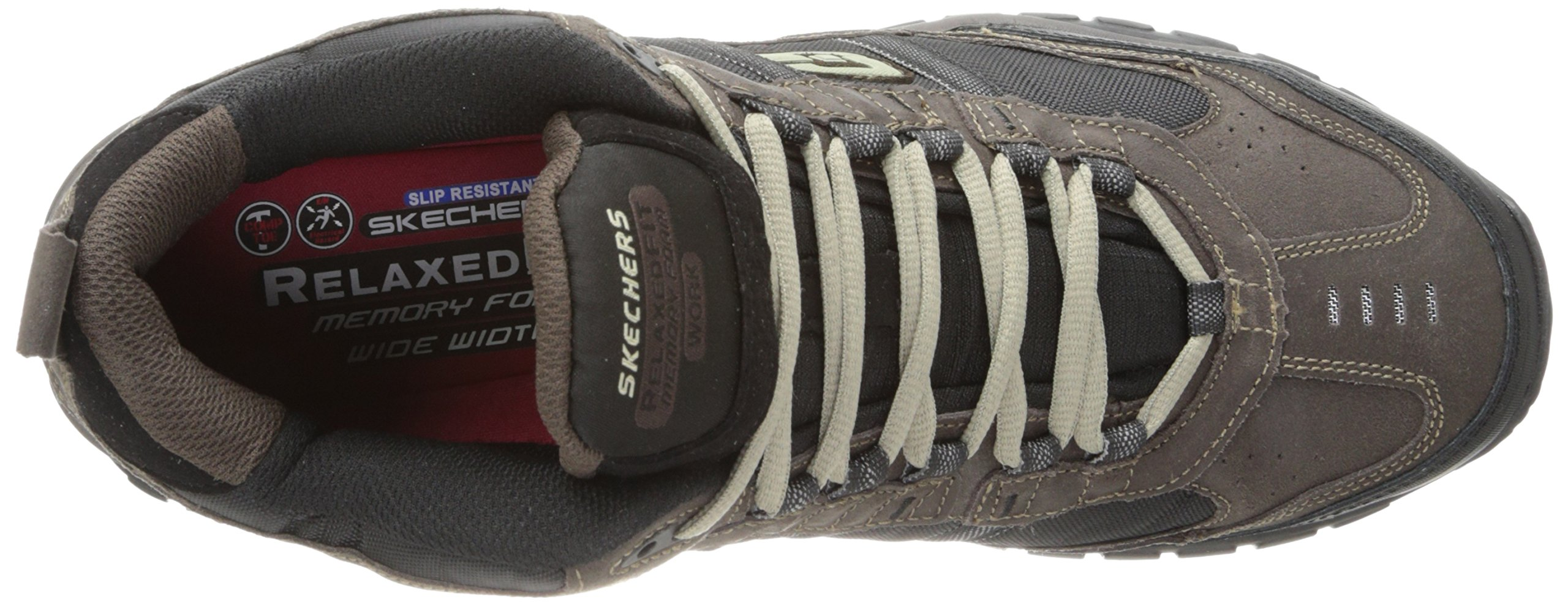 Skechers Men's Work Relaxed Fit Soft Stride Canopy Comp Toe Shoe, Brown/Black - 11.5 3E US by Skechers (Image #8)