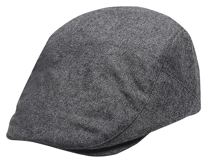 Panegy - Gorro Gorra de Boina para Hombre Sombrero de Boina Bombines con  Visera Corta Beret para Golf Taxista Casquillo Caballero Vintage - Gris   Amazon.es  ... ebbfbd4c564