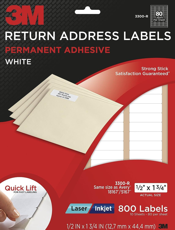 return address labels 5167