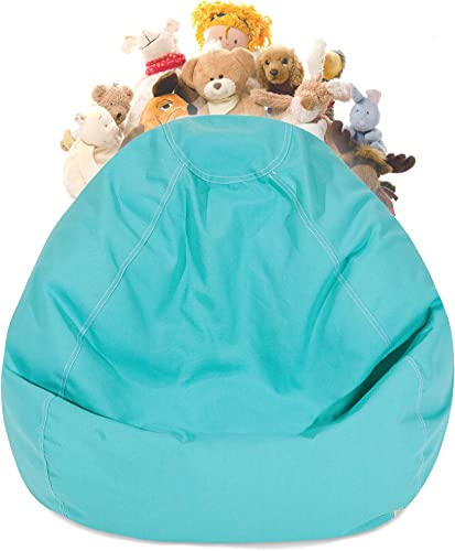 Majestic Home Goods Solid Stuffed Animal Toy Storage Bean Bag Chair