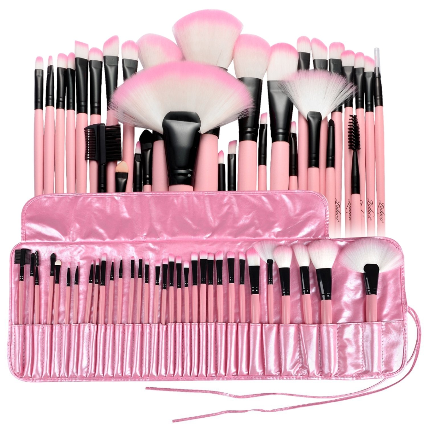 Zodaca 32-Piece Set Professional Cosmetic Makeup Brushes with Pouch Bag, Pink eForCity