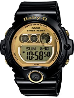 ba1c3b8ec767 Casio Women's BG6901-1 Baby-G Black Resin and Gold-Tone Accented Large