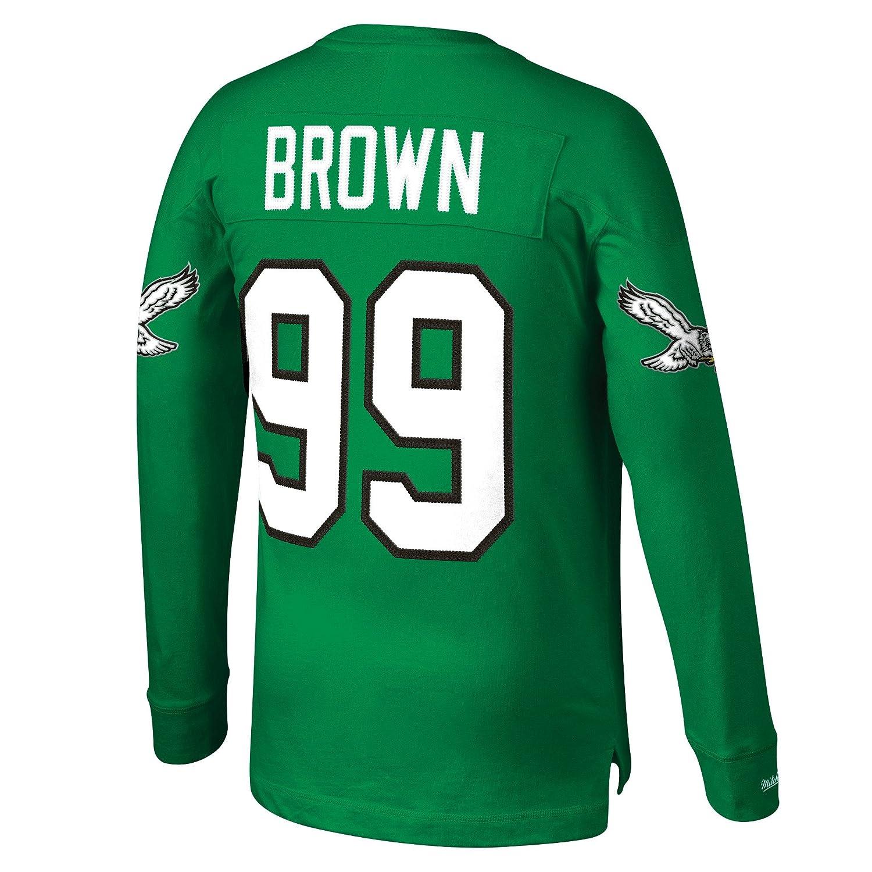 Amazon.com   Mitchell   Ness Jerome Brown Philadelphia Eagles NFL Men s Go  Long L S Shirt   Sports   Outdoors e2ffb78ca