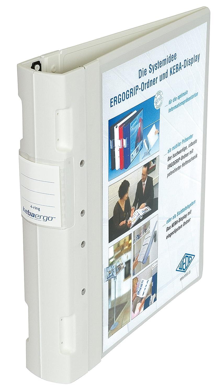 Wedo 05818002 - Archivador plástico con cierre ergonómico A4 4 anillas 55 mm color rojo