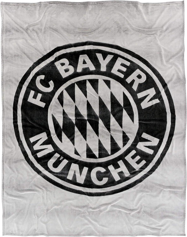 FC Bayern M/ünchen Couverture en polaire Rouge//blanc