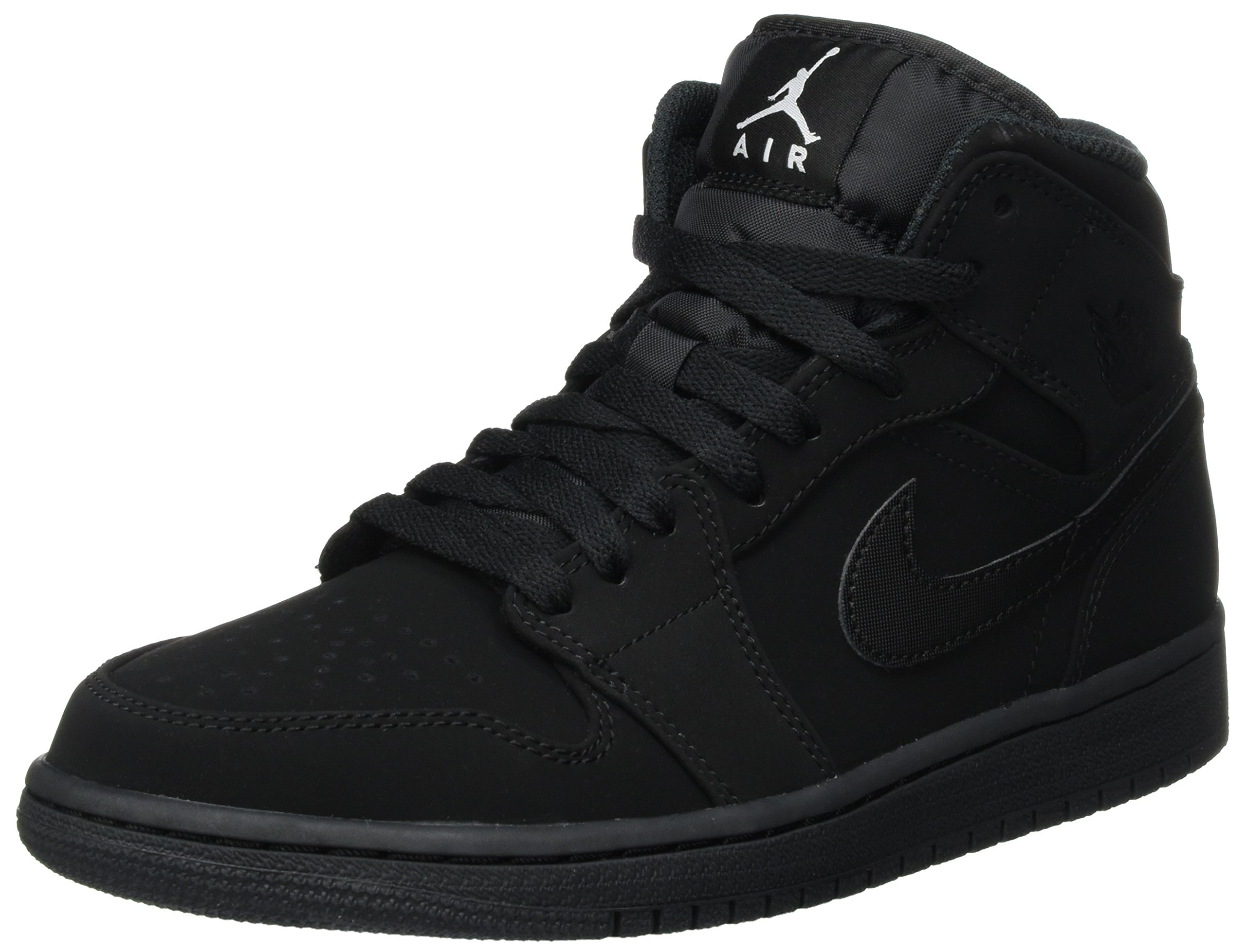 be6a4daac5f37e Galleon - Nike Men s Air Jordan 1 Retro Mid Basketball Shoes Black White-Black  Size 10.5 D(M)
