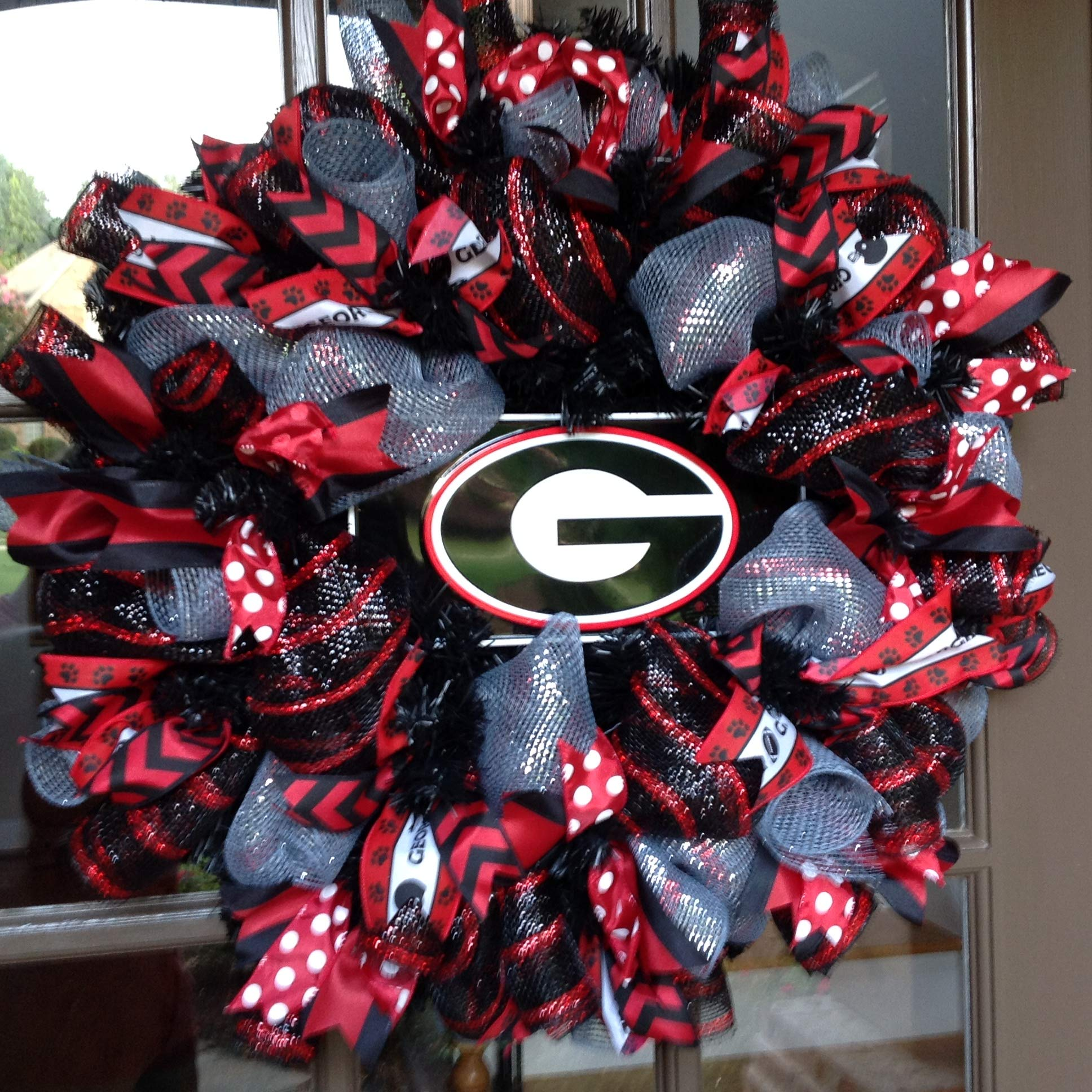 Flora Decor UGA Collegiate Wreaths with License Plate -26''