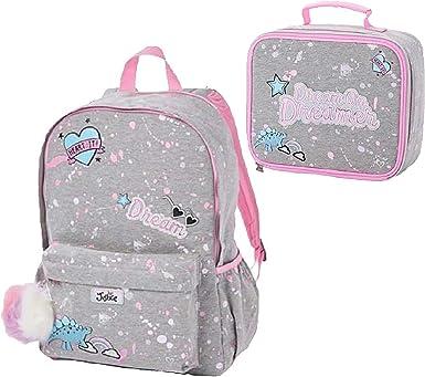 Justice Girls 2-Piece Bundle Dream Dinosaur Backpack /& Lunch Tote Set