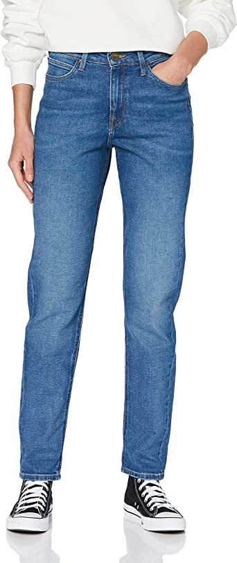 Lee Womens Mom Straight Jeans