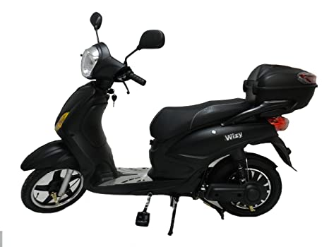 E Scooter Elettrico Wizy Nero Con Pedalata Assistita 12 Ah 48 V 250 Watt Autonomia 75 Km