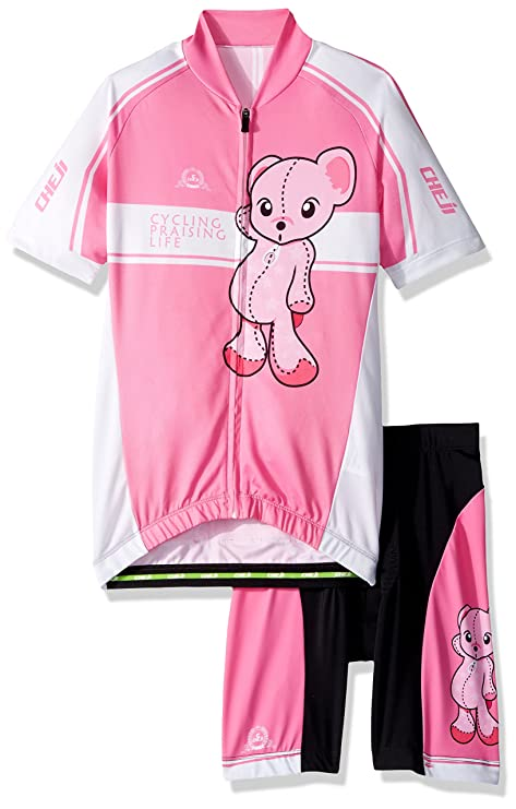 Ateid Children Boys  Girls  Cycling Jersey Set Short Sleeve with 3D Padded Shorts  Bear 05ee7f53e