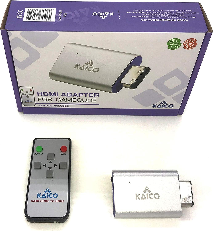 Cable adaptador HDMI para el software de GCVideo de Nintendo Gamecube. Soporta 2x Line-Doubling e incluye el control remoto. Una solución Plug & Play sencilla de Kaico