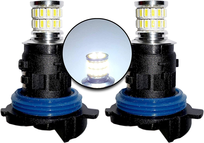 Transformez votre Ride HP24W Ampoules LED Canbus Blanc Feux de Jour DRL Feux Lat/éraux Tr/ès Lumineux et Sans Erreur PSA MCK Auto
