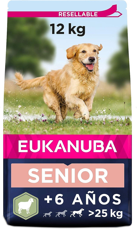 EUKANUBA Alimento seco para Perros Senior de Razas Grandes, Rico en Cordero y arroz, 12 kg