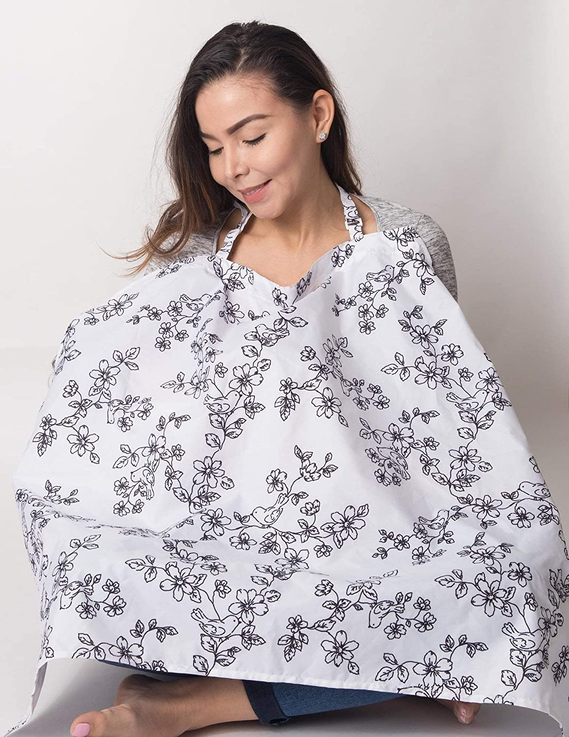 Damask 26 x 34 Little Me Nursing Cover with Interior Pockets