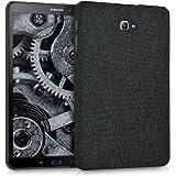 kwmobile Hardcase Stoff Hülle für Samsung Galaxy Tab A 10.1 (2016) - Cover Case in Stoff Design Dunkelgrau