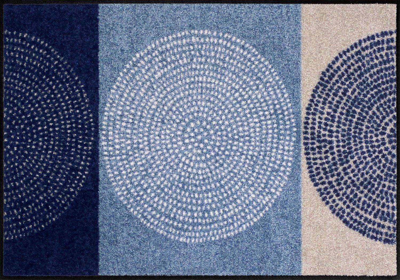 Salonloewe Fußmatte blau Größe 75x150 cm