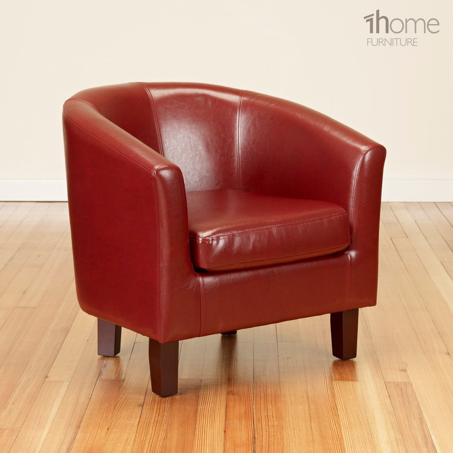 1home Bonded Leather Tub Chair Armchair Dining Living Room Office ...