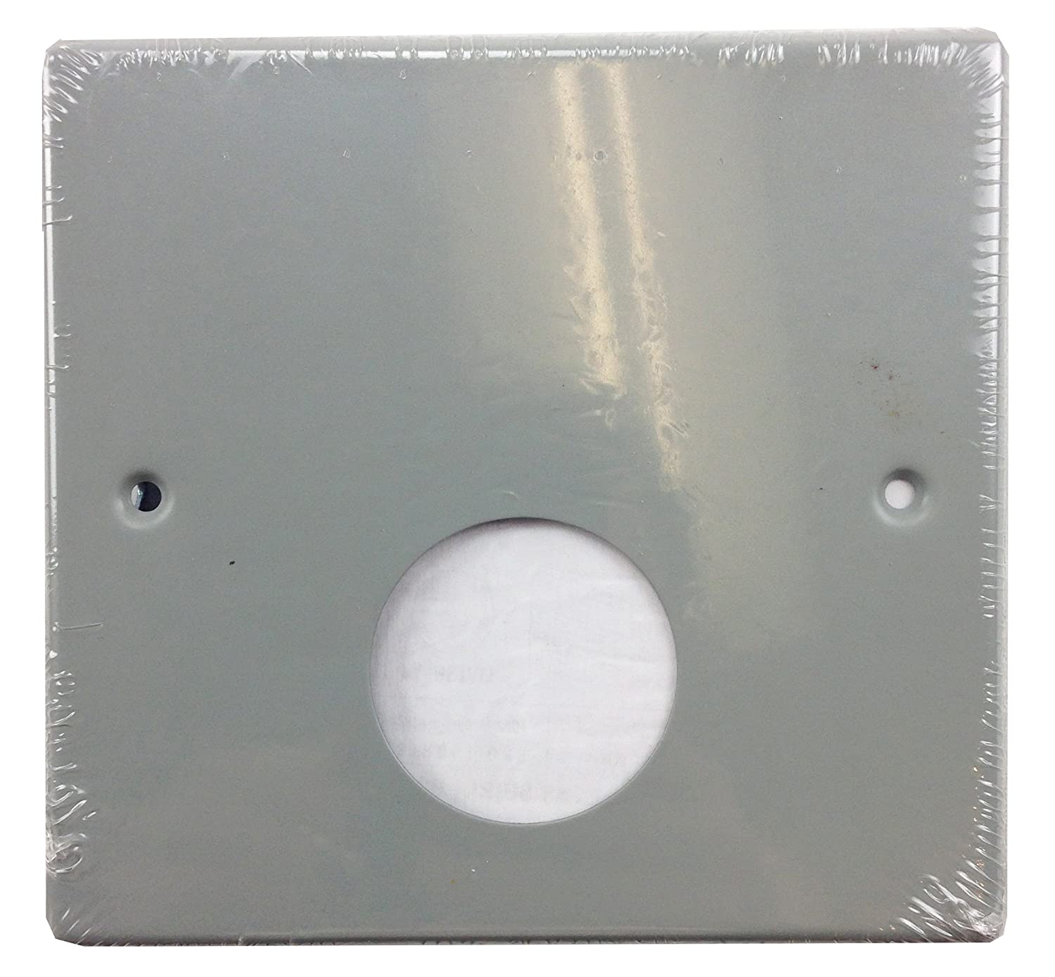 Walker Wiremold G4047JX 2 Gang Gray Cover Single Round Opening Plate ...