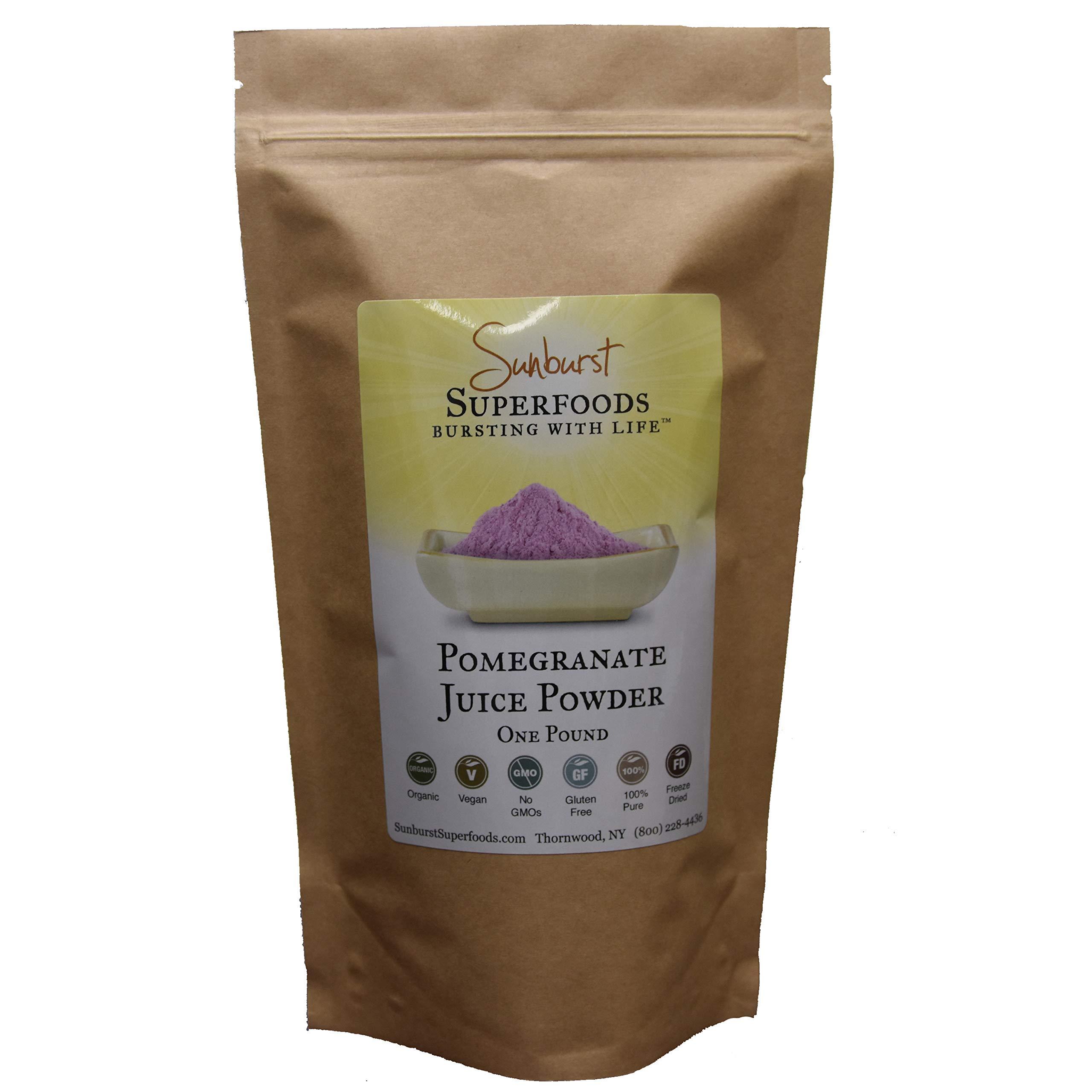 Sunburst Superfoods Organic Freeze-Dried Pomegranate Juice Powder, 1 lb