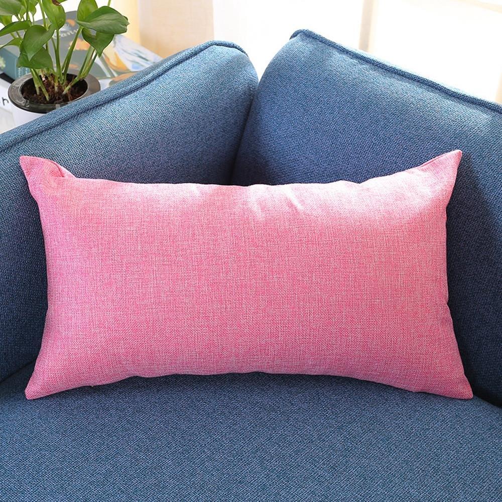 VJGOAL Casual Color sólido Suave Lino algodón Funda de Almohada Rectángulo extraíble y Lavable Cojín 30cm * 50cm(30_x_50_cm,Naranja)