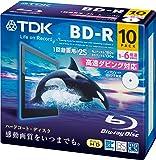 TDK 録画用ブルーレイディスク BD-R 25GB 1-6倍速 ホワイトワイドプリンタブル 10枚パック 5mmスリムケース BRV25PWC10A