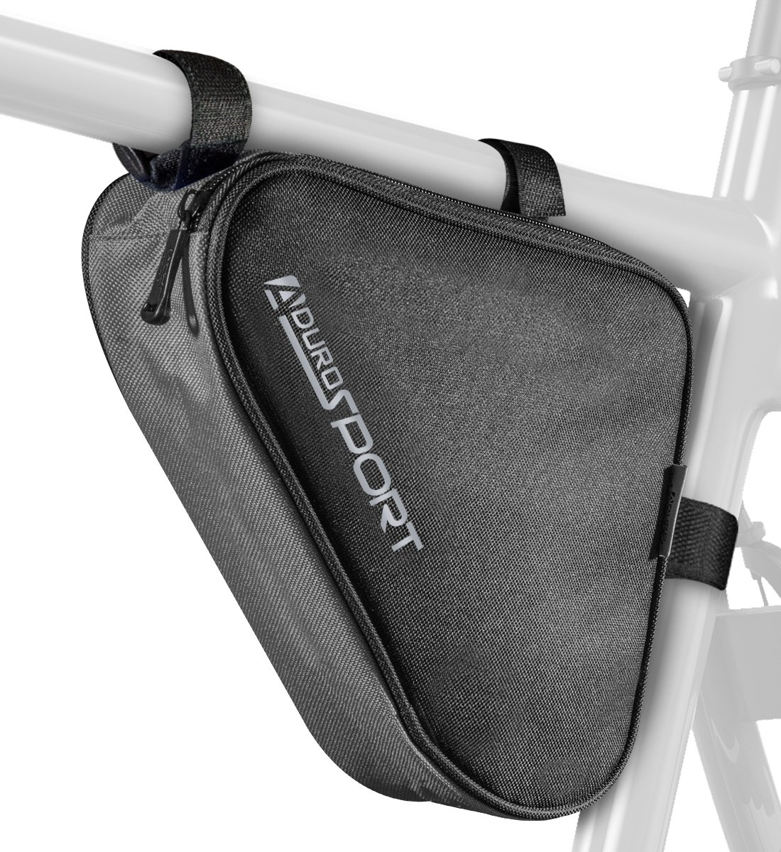 Aduro Sport Bicycle Bike Storage Bag Triangle Saddle Frame Pouch for Cycling (Grey)