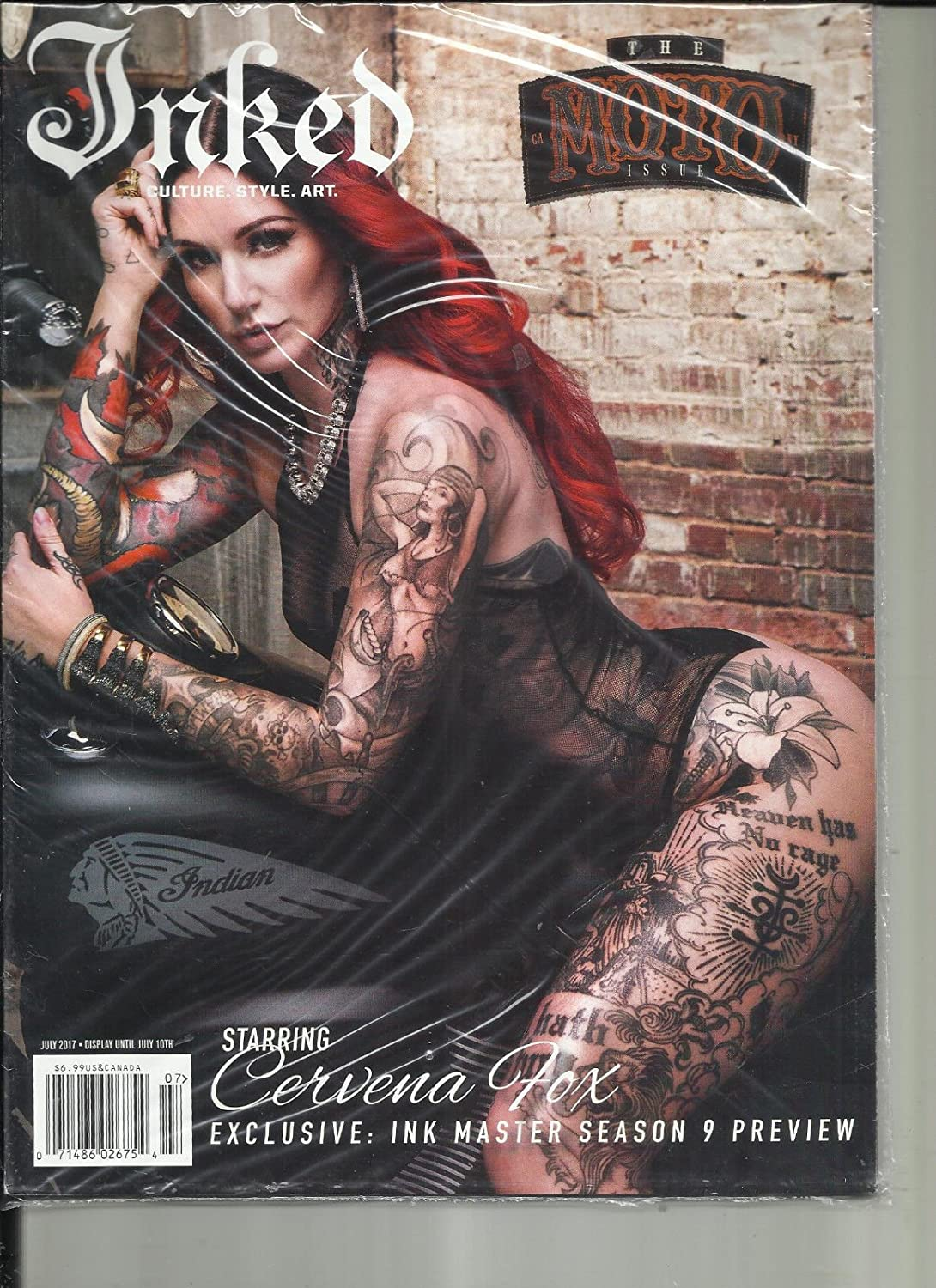 INKED MAGAZINE, THE MOTO ISSUE CULTURE * STYLE * ART JULY, 2017 ISSUE, 85 s3457