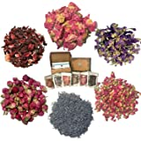 Dried Flower for Soap Making - Artisan Floral and Herbs Set incl. Wild Rose Petal and Lavender - Candle Making Kit - Bath Bomb Making Kit - Pressed Flowers for Resin -with BONUS
