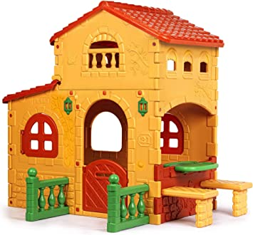 FEBER - Casita infantil para el jardín, Grande Villa (Famosa 800008590): Amazon.es: Juguetes y juegos