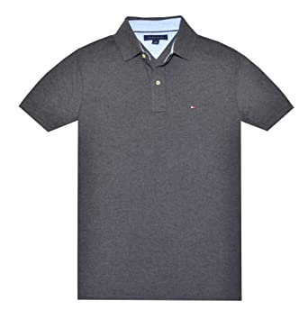 7553ce00 Image Unavailable. Image not available for. Color: Tommy Hilfiger Classic  Fit Men Polo T-shirt ...