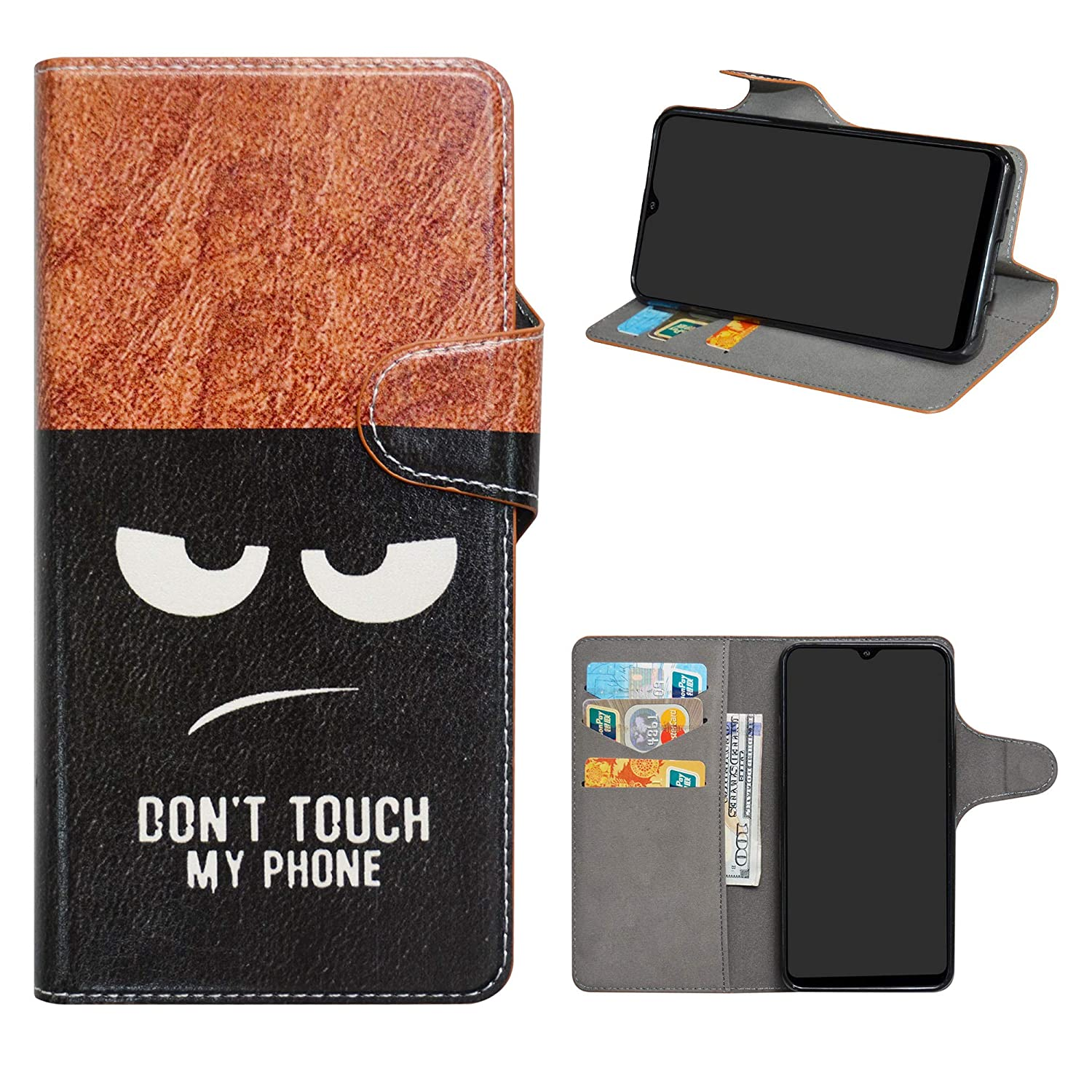 Samsung Galaxy A10 2019 Case Luxury Leather Wallet Flip Book Phone Cover is made from premium synthetic PU Leather.