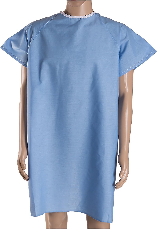 DMI – paciente Unisex Hospital fiesta con back Tie, Azul, 12-Count: Amazon.es: Salud y cuidado personal