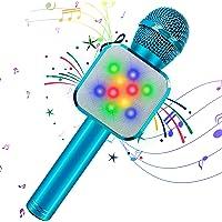 KIDWILL Micrófono de Karaoke Inalámbrico con Bluetooth para Niños y Adultos 5 en 1 Micrófono de Karaoke de Mano con…