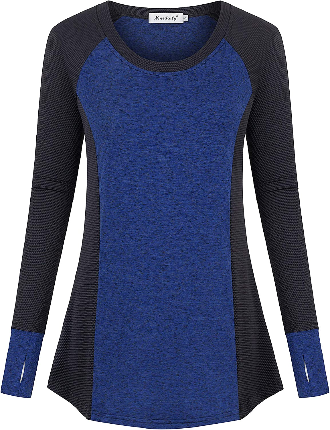 Ninedaily Women's Long Sleeve Workout Shirt Winter Fitness Activewear Casual Top: Clothing