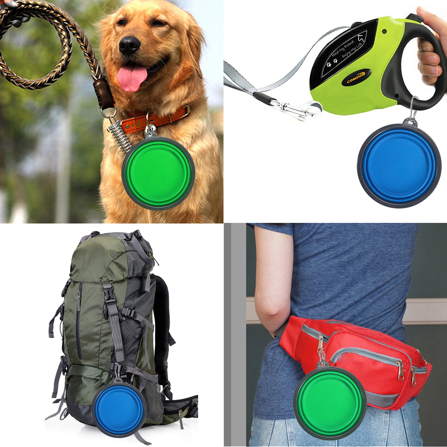 dog collapsible food and water bowls dog travel tips