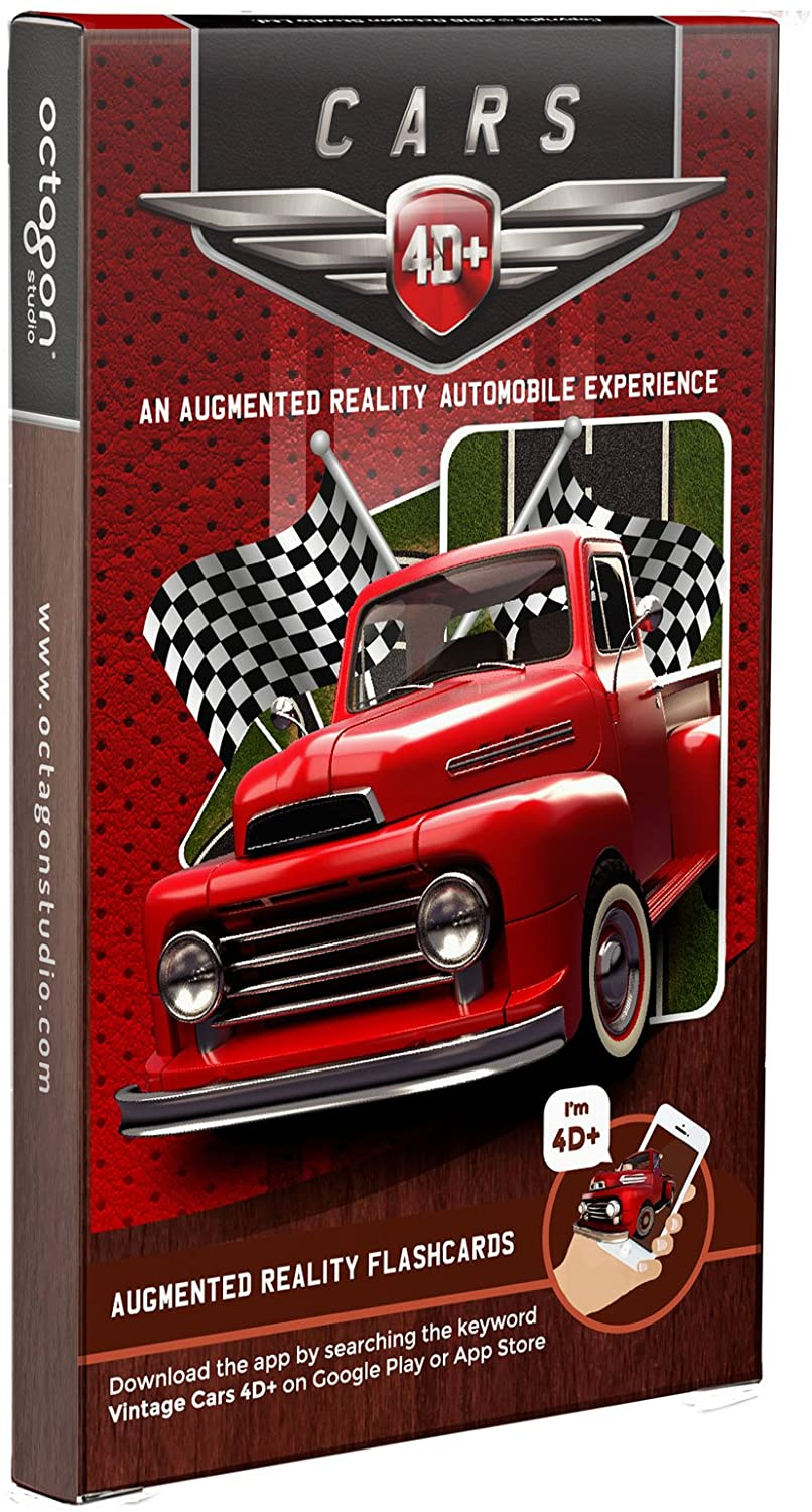 Octagon Studio Cars 4D+ Augmented Reality Flash Cards