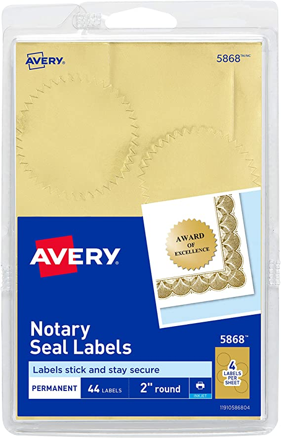130 Adhesive Labels Stamps Custom close Envelope Pack Gold 36x19 MM