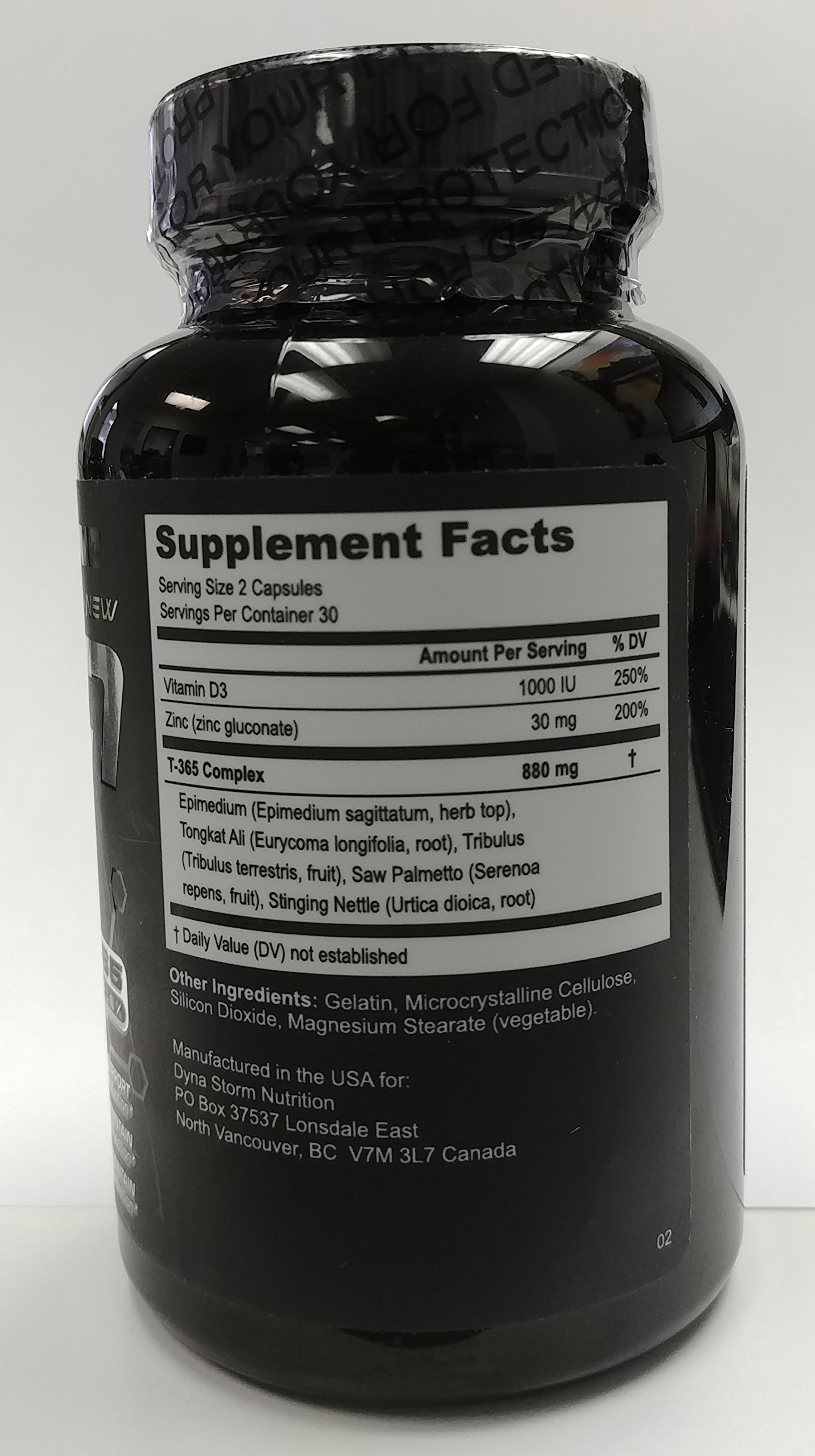 DSN Code Black, Code Black Testosterone Support Capsules, Vitamin D Zinc & herb Blend, 60 Capsules (30 Day Supply)