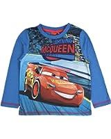 Disney Cars Lightning McQueen Long Sleeve Boys Top Tee Size UK 2-8 Years